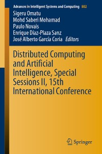 Cover Distributed Computing and Artificial Intelligence, Special Sessions II, 15th International Conference