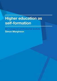 Cover Higher education as self-formation