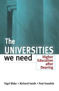 Cover Universities We Need