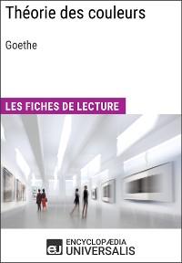 Cover Théorie des couleurs de Goethe