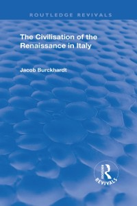 Cover Civilisation of the Period of the Renaissance in Italy