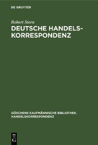 Cover Deutsche Handelskorrespondenz