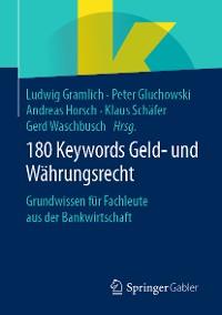 Cover 180 Keywords Geld- und Währungsrecht