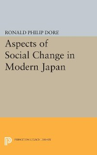 Cover Aspects of Social Change in Modern Japan