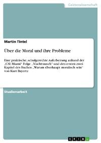 Cover Über die Moral und ihre Probleme