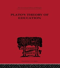 Cover Plato's Theory of Education