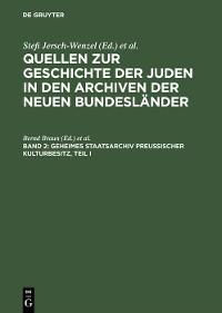 Cover Geheimes Staatsarchiv Preußischer Kulturbesitz, Teil I