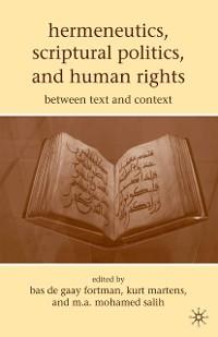 Cover Hermeneutics, Scriptural Politics, and Human Rights