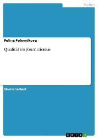 Cover Qualität im Journalismus