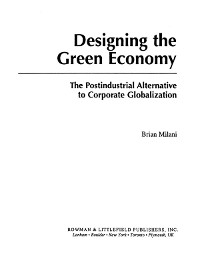 Cover Designing the Green Economy