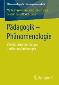 Cover Pädagogik - Phänomenologie