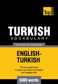 Cover Turkish Vocabulary for English Speakers: 5000 words