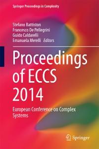 Cover Proceedings of ECCS 2014