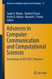Cover Advances in Computer Communication and Computational Sciences