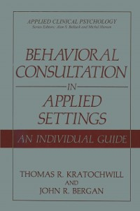 Cover Behavioral Consultation in Applied Settings