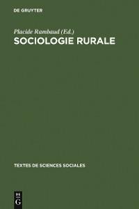 Cover Sociologie rurale