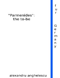 "Cover ""Parmenides"": The to Be"