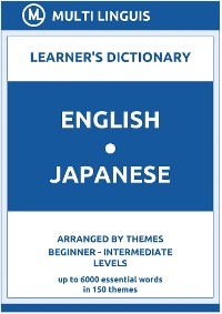 Cover English-Japanese Learner's Dictionary (Arranged by Themes, Beginner - Intermediate Levels)