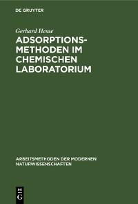 Cover Adsorptionsmethoden im chemischen Laboratorium