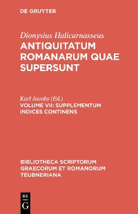 Cover Supplementum Indices Continens