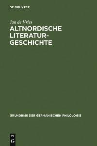 Cover Altnordische Literaturgeschichte
