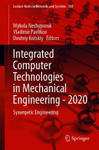 Cover Integrated Computer Technologies in Mechanical Engineering - 2020
