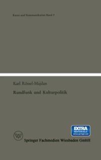 Cover Rundfunk und Kulturpolitik