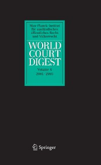 Cover World Court Digest 2001 - 2005