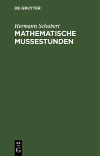 Cover Mathematische Mußestunden