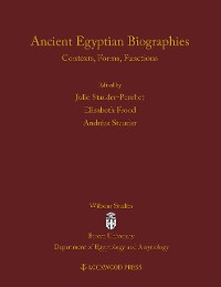 Cover Ancient Egyptian Biographies