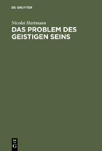Cover Das Problem des geistigen Seins