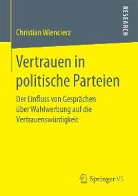 Cover Vertrauen in politische Parteien