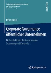 Cover Corporate Governance öffentlicher Unternehmen