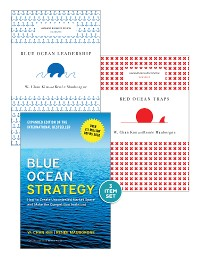"""Cover Blue Ocean Strategy with Harvard Business Review Classic Articles """"Blue Ocean Leadership"""" and """"Red Ocean Traps"""" (3 Books)"""