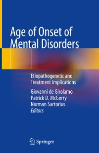 Cover Age of Onset of Mental Disorders