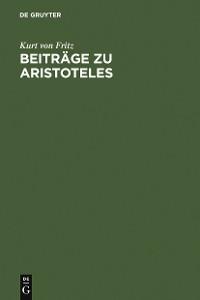 Cover Beiträge zu Aristoteles