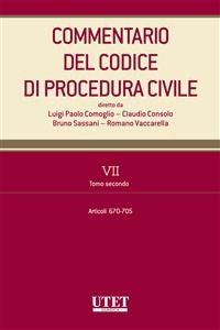 Cover Commentario del Codice di procedura civile - vol. 7 - tomo II