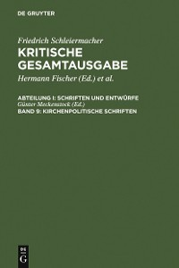 Cover Kirchenpolitische Schriften
