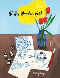 Cover At Her Wooden Desk