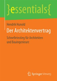 Cover Der Architektenvertrag