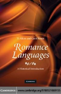 Cover Romance Languages