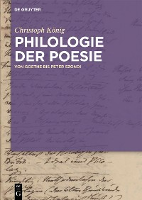 Cover Philologie der Poesie
