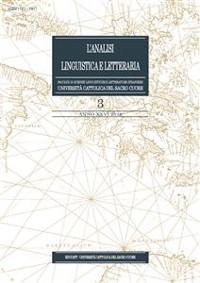 Cover L'Analisi Linguistica e Letteraria 2018-3