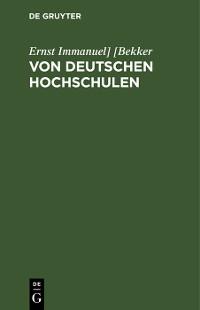 Cover Von deutschen Hochschulen