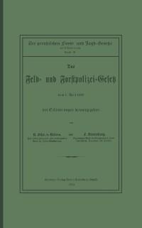 Cover Das Feld- und Forstpolizei-Gesetz