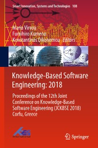 Cover Knowledge-Based Software Engineering: 2018