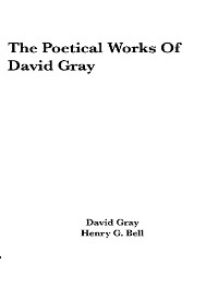 Cover The Poetical Works of David Gray