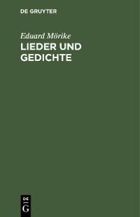 Cover Lieder und Gedichte