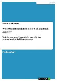 Cover Wissenschaftskommunikation im digitalen Zeitalter