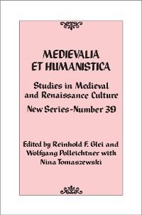 Cover Medievalia et Humanistica, No. 39